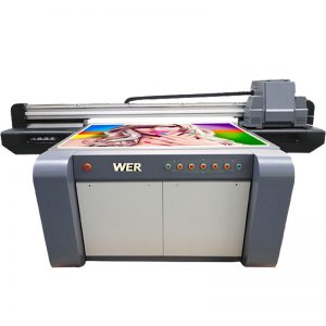 3D printer me shtrat të sheshtë UV, printer qeramike, makinë shtypi me pllaka në Kinë WER-EF1310UV