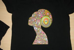 Shtypi i printimit me t-shirt të zi me printer A2 me t-shirt WER-D4880T