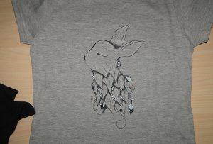 Shtypi i shtypjes me germa gri me printer A2 me t-shirt WER-D4880T